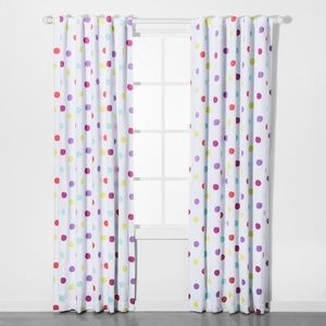 NEW 2 Pillowfort Dot Blackout Curtain Panels
